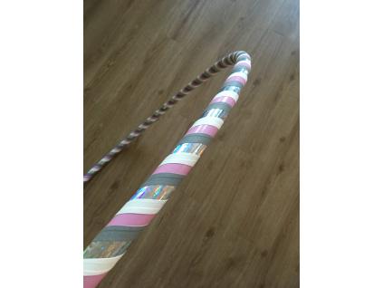 Fitness obruč Růžová pastelka, 100 cm